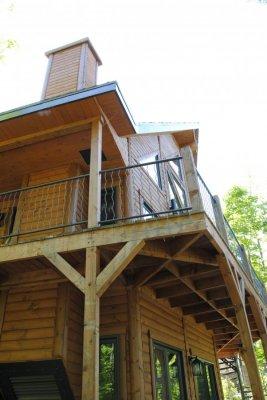 Revêtement extérieur en bois (Demi-rond de bois)